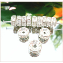 Rondel Cristal 8mm Plateado Y Dorado X 100 Dmm