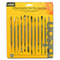 Cera Carving Set - Rolson 12pc Carver Acero Inoxidable