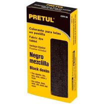 Colorante Negro Mezclilla Para Telas Pastilla Pretul 20561