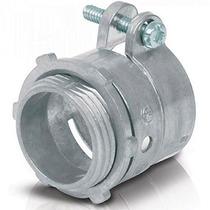 Conector Recto Tubo Flexible 1 Pulgada Zamac Voltech 47340