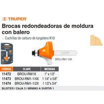 Broca Para Router Redondeado Con Moldura 1-1/4 Con Balero