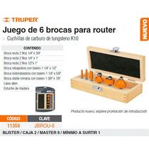 Juego De 6 Brocas Para Router