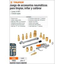 Accesorios Truper P/limpiar, Inflar Y Calibrar 17 Pzas