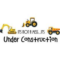 ¡no Es Un Lío ... Es En Construcción (3 Piezas Camiones Impr