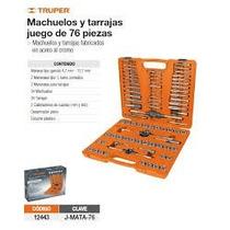 Juego De Machuelos Y Tarrajas 76 Piezas Truper 12443