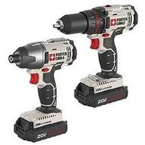 Juego De Taladro Desarmadores Porter-cable Pcck604l2 20v Max