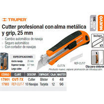 Cutter Cuchilla De 25 Mm Con Grip