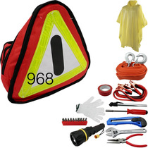 Kit De Emergencia Para Auto Cables Pasacorriente Calibrador