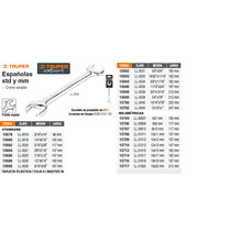 Llave Espaniola Milimetrica 12 X 13 X 165 Mm