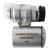 Microscopio Mini 60 X Ajustable Con Led+uv