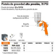 Pistola De Gravedad, Alta Presión 70psi. Truper