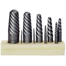 Juego Extractores Tornillos Espiral 9 Acero Al Alto Carbono