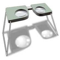 Estereoscopio De Mano O Bolsillo Plastico Y Metal