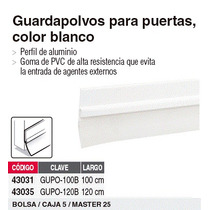Guardapolvo 100 Cm Color Blanco