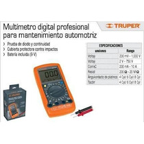 Multimetro Digital Profesional Automotriz Truper