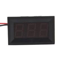 Voltímetro Digital Panel Led Rojo Hittime Mini Dc 0v A 99.9v