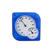 Medición De La Temperatura Azul Termómetro Higrómetro Humeda