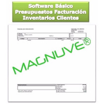 Software Básico Facturación Presupuestos Inventarios Ventas