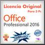 Office Professional Plus 2016 Licencia Original 3 Pc