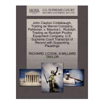 John Clayton Cridlebaugh, Trading As Marvel, Richard J Cook