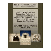 Frank Ix & Sons Virginia Corporation,, Benjamin Nadel