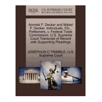 Ammiel F. Decker And Mabel P. Decker,, Josephus C Trimble