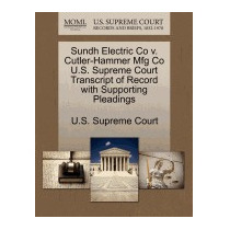 Sundh Electric Co V. Cutler-hammer Mfg Co, U S Supreme Court