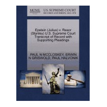 Epstein (julius) V. Resor (stanley) U.s., Paul N Mccloskey