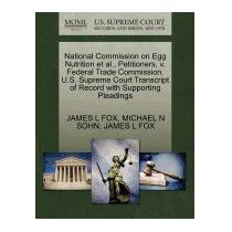 National Commission On Egg Nutrition Et Al.,, James L Fox
