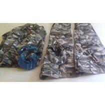 Uniforme De Camuflaje Casaca Gorra Y Pantalón Tipo Militar