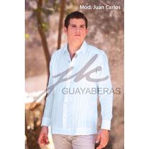 Guayabera Yucateca Juan Carlos 100% Lino Manga Larga Fn4