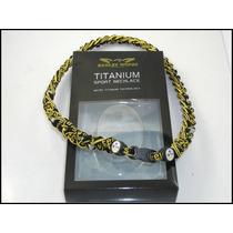 Collar De La Nfl Y Ncaa Trenzados Titanio Phiten