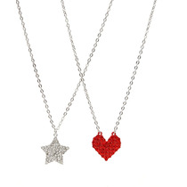 Hot Topic Collar Star And Heart Bling Best Friend Necklaces
