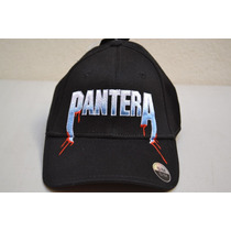 Pantera Gorra Negra Calavera Roja Grupo De Rock