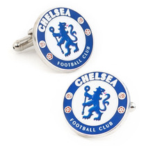 Mancuernillas Chelsea Logo Club Football Camisa Traje Acero