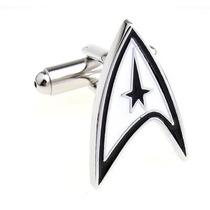 Mancuernillas Star Trek Logo Star Wars Camisa Traje Acero