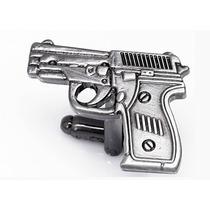 Mancuernillas Pistola Policia Acero Camisa Traje