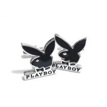 Mancuernillas Logo De Play Boy Conejo Camisa Traje Acero