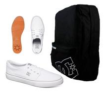 Set Mochila Backpack Shake Up Kvj0 + Trase Tx Wht Dc Shoes
