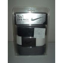 Paquete De 3 Cinturones Nike Golf Ajustables Talla 30 A 42 !