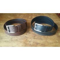 Cinturón Sillero Piel. En Negro Y Café