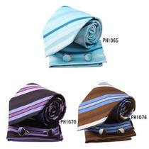 Corbata Eac1a23 Multicolores Rayados De Seda Corbata Grande
