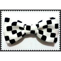 Corbata De Moño Cuadros Negros Para Caballero.