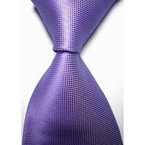 T02 Corbata Morada - Textura Microcuadros