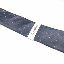 Corbata Calvin Klein Azul Con Puntos Caballero 100%original