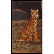 Corbata Con Diseño -- Tigre -- Tela Italiana / Usada