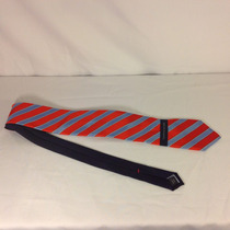 Corbata Tommy Hilfiger Azul Con Rojo Rayas Original