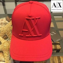Gorra A | X Armani Exchange Rubber Logo Cap Red Blanca 2016