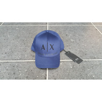 // Gorra Ax Armani Exchange Original Azul Bordada De Tela