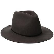 Gorra Brixton Hombres De Wesley Fedora Hat Gris, Pequeño